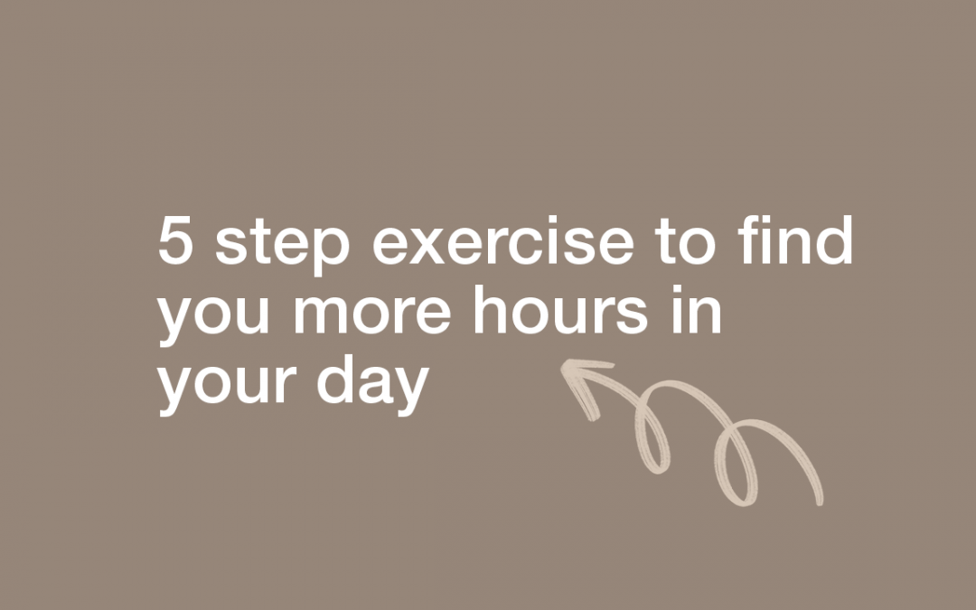 5 Step Exercise to Find You More Hours in Your Day